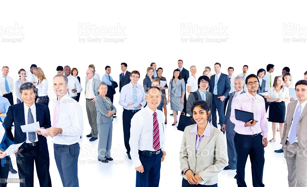 Businesspeople from around the world royalty-free stock photo