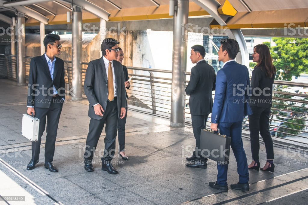 businesspeople group walking at city, business team - Стоковые фото Бизнес роялти-фри