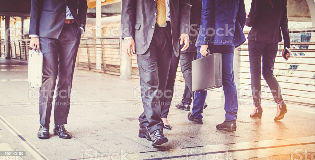 businesspeople group walking at city, business team - Royalty-free Adulto Foto de stock