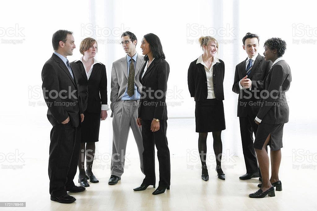 Businesspeople : Groups talking royalty-free stock photo
