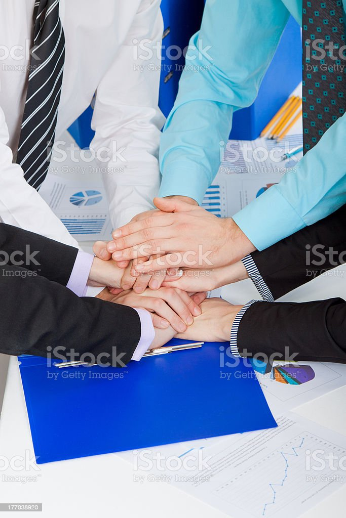 businesspeople hands paperwork royalty-free stock photo