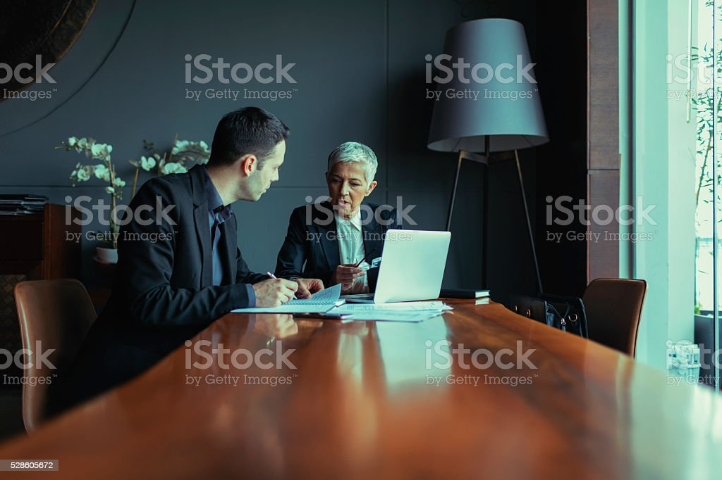 Businesspeople Have Meeting. stock photo