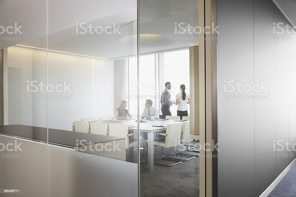 Businesspeople having meeting in conference room 免版稅 stock photo