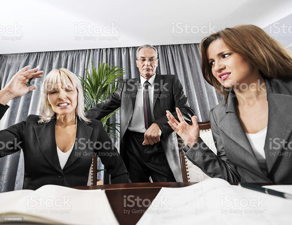 Businesspeople having problems. royalty-free stock photo