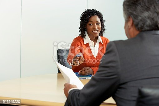 istock Businesspeople in a meeting 517545220