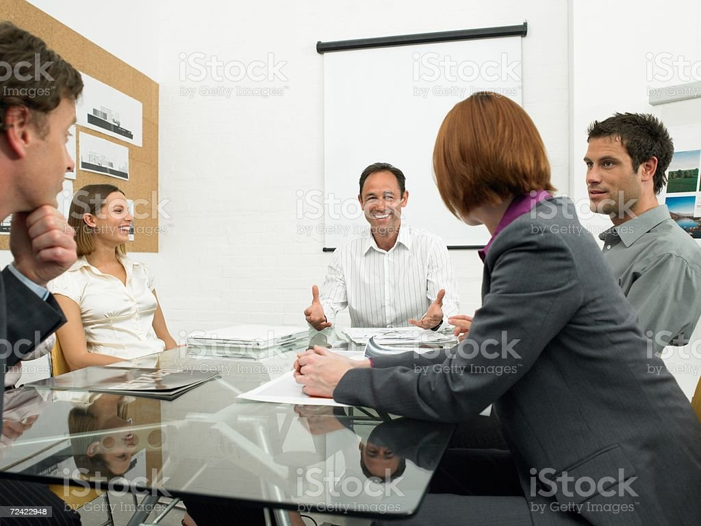 Businesspeople in a meeting royalty-free stock photo