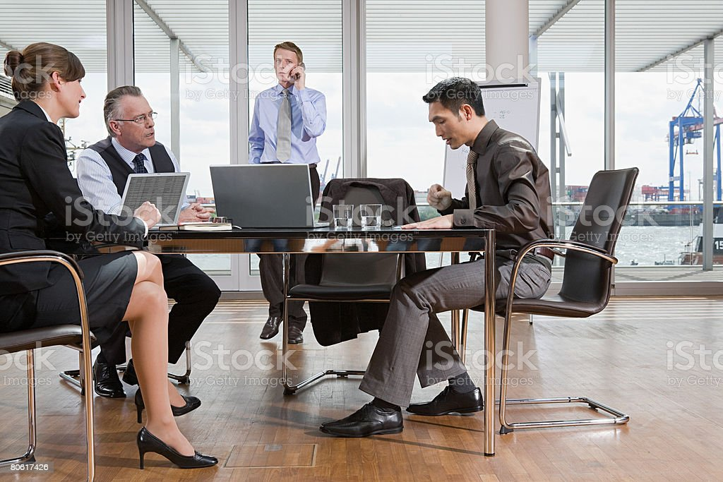 Businesspeople in a meeting 免版稅 stock photo