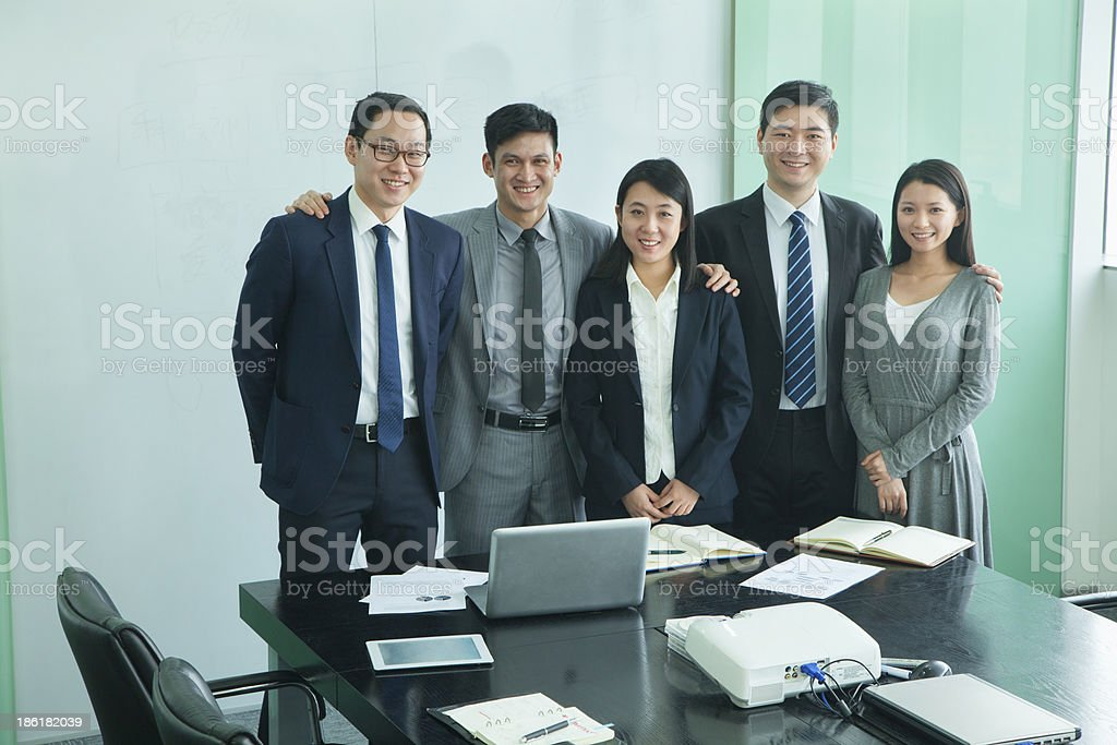 Businesspeople in Conference Room royalty-free stock photo