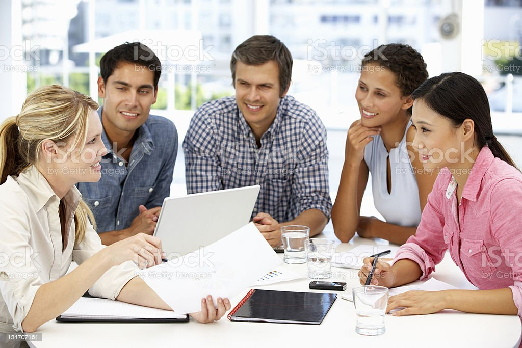 Businesspeople in meeting royalty-free stock photo