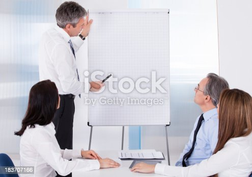 istock Businesspeople In Meeting 183707166