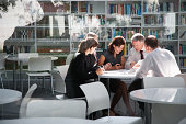 istock Businesspeople in office meeting 483636107