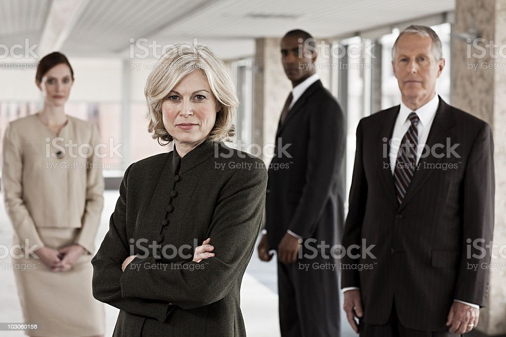 Businesspeople in office stock photo