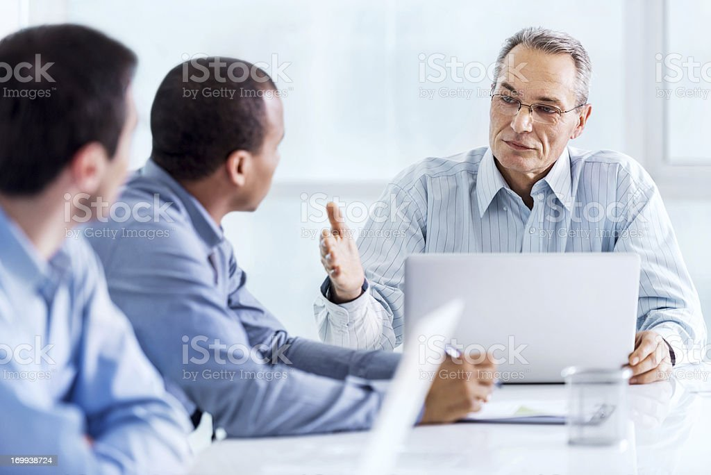 Businesspeople on a meeting. royalty-free stock photo