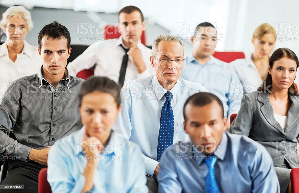Businesspeople on a seminar. royalty-free stock photo