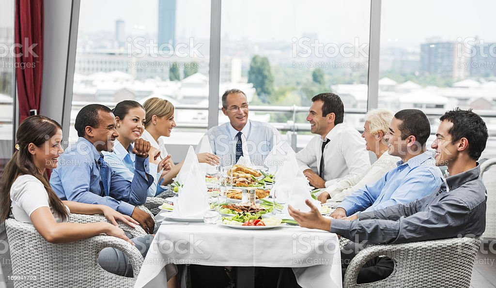 Businesspeople on lunch stock photo