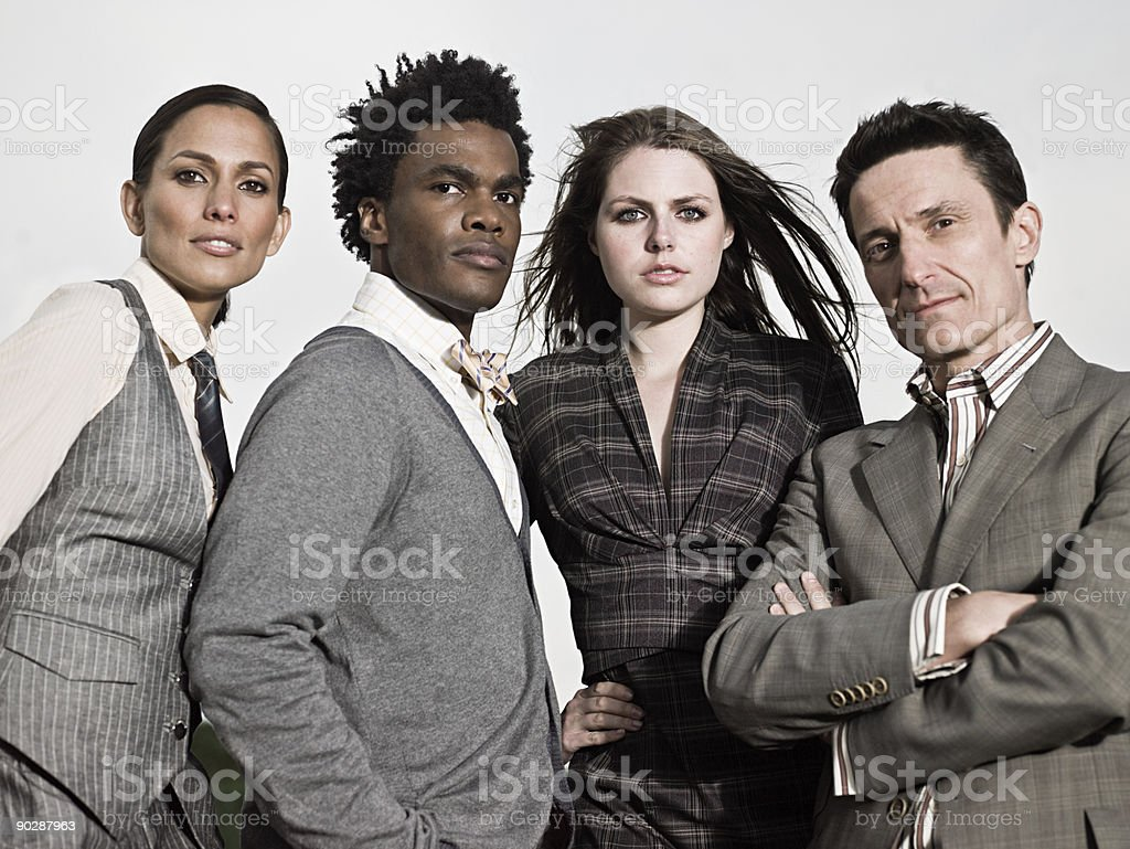 Businesspeople outdoors stock photo