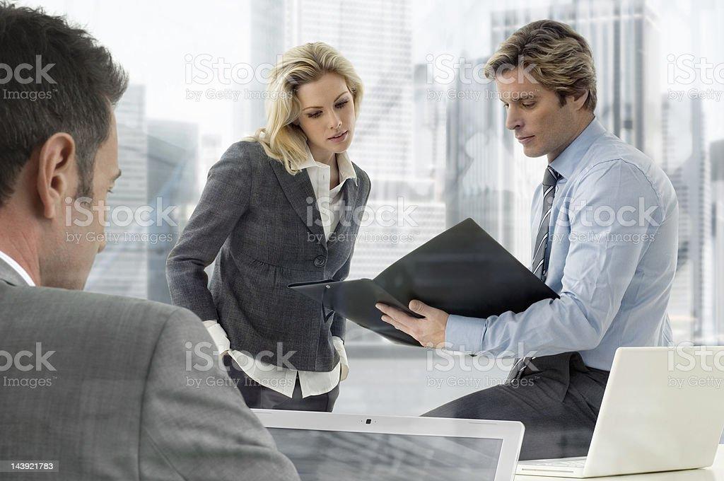 Geschäftsleute - Lizenzfrei Akte Stock-Foto