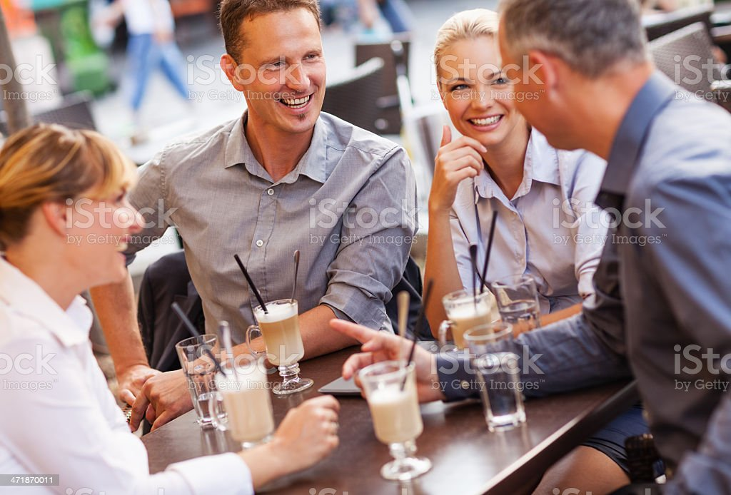 Businesspeople relaxing royalty-free stock photo