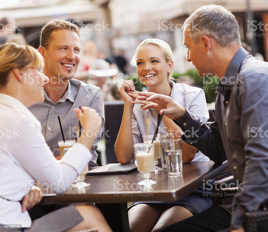Businesspeople relaxing stock photo