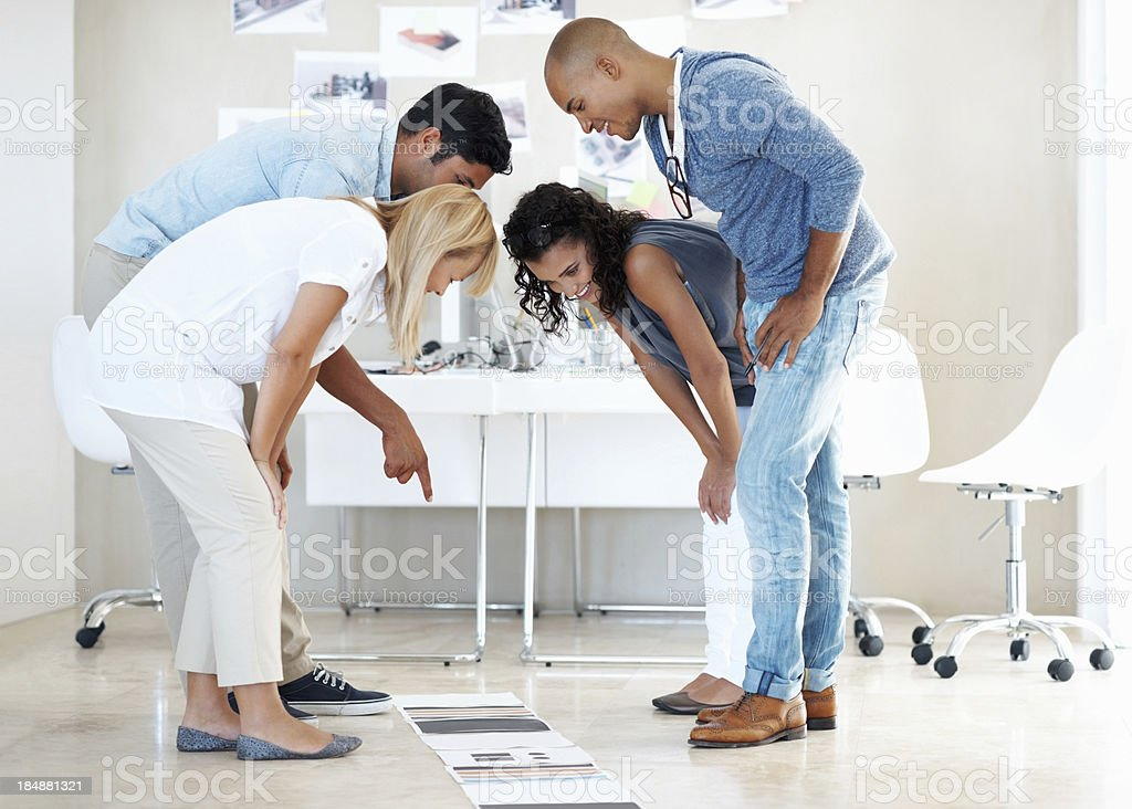 Businesspeople selecting color royalty-free stock photo