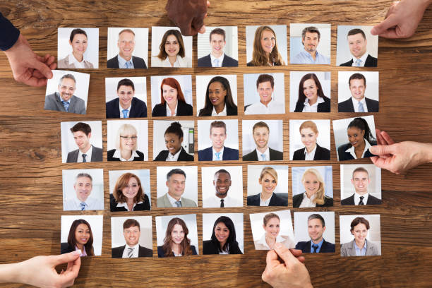 Businesspeople Selecting The Candidate Portrait Photo stock photo