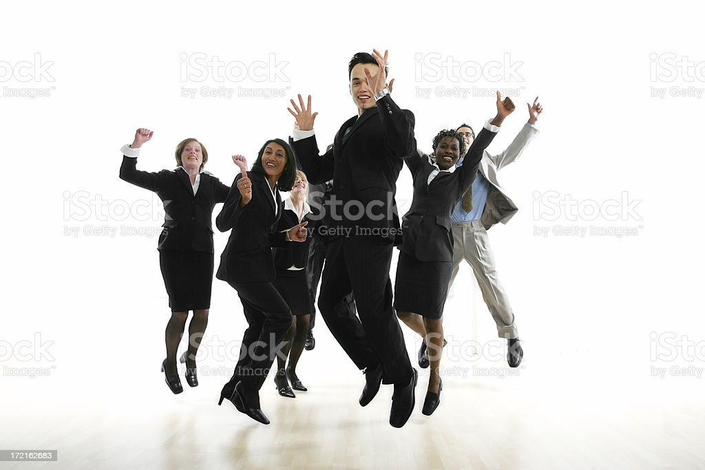 Businesspeople serie I : group V royalty-free stock photo