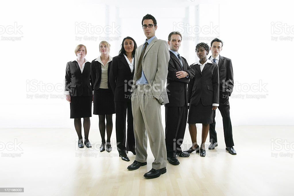 Businesspeople serie I : group VII royalty-free stock photo
