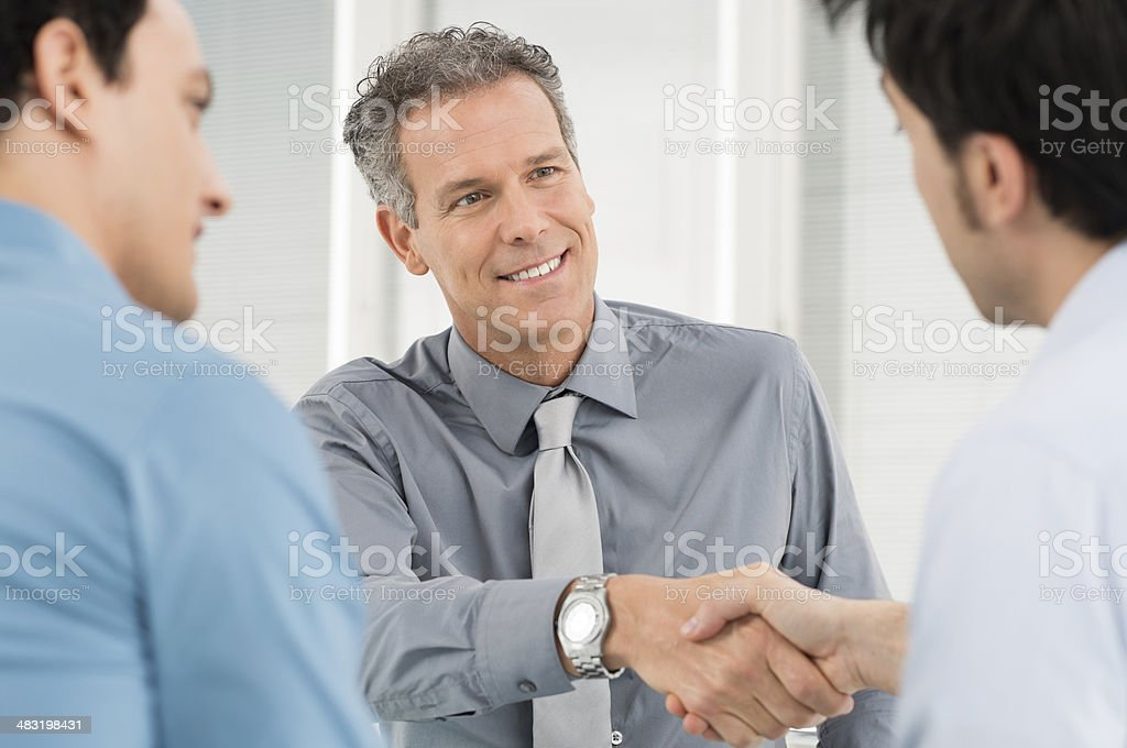 Businesspeople Shaking Hand stock photo