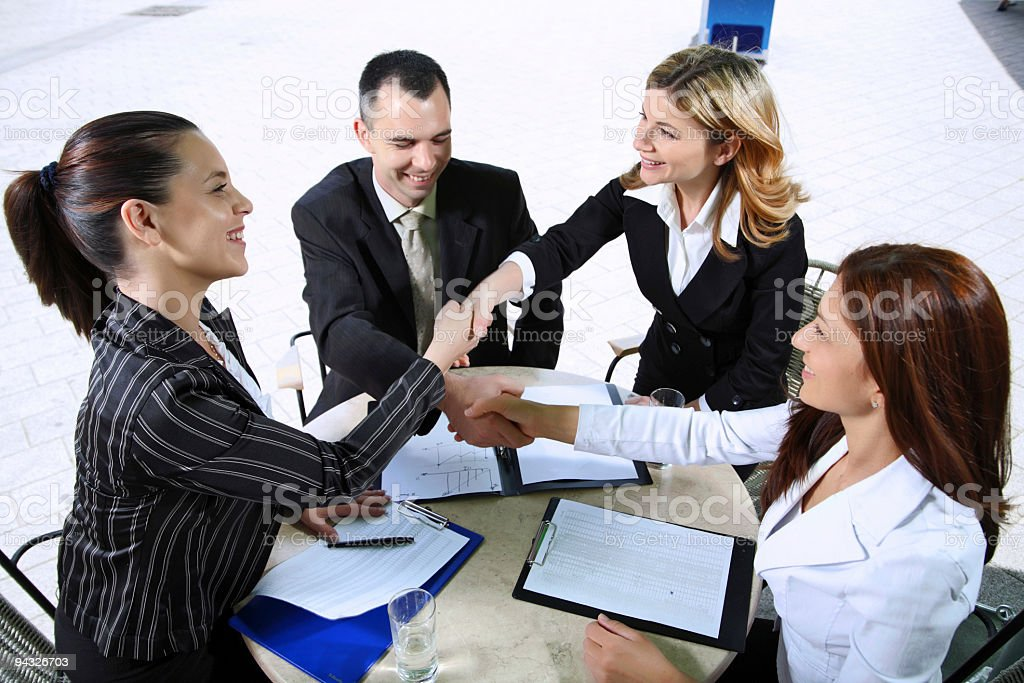 Businesspeople shaking hands. royalty-free stock photo