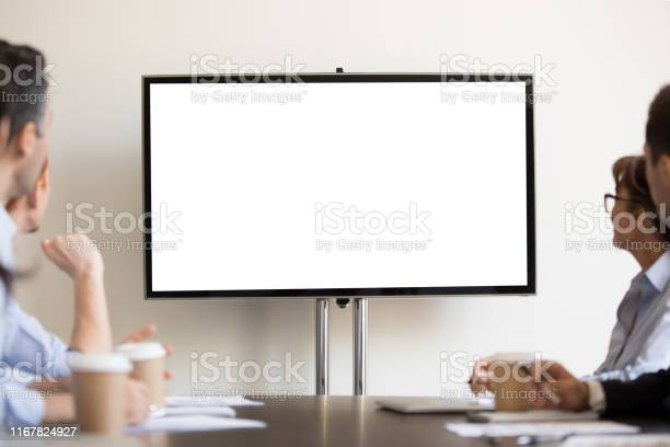 Businesspeople sitting in boardroom looking at tv with white blank picture id1167824927?b=1&k=6&m=1167824927&s=612x612&h=eaqpovujdqykpw6hvfsyw2xufxviolc  5jmw p0zqw=