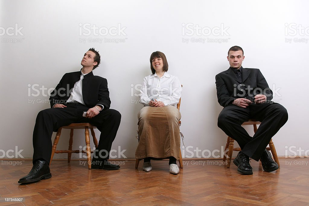 Businesspeople waiting for job royalty-free stock photo