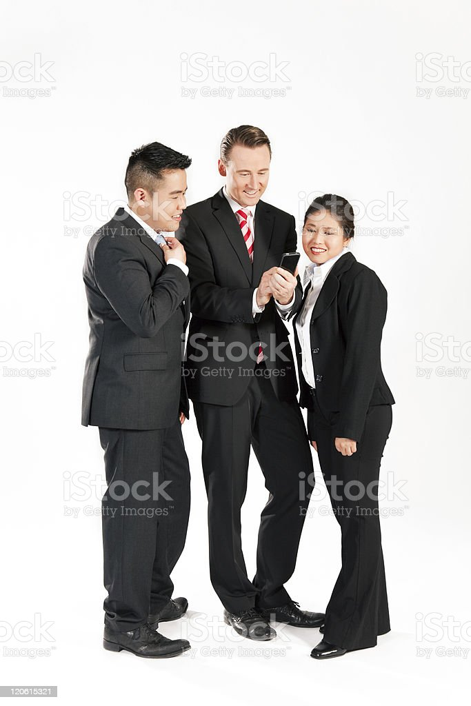 Businesspeople with smart phone royalty-free stock photo