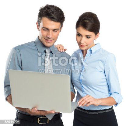 istock Businesspeople Working At Laptop 183944294