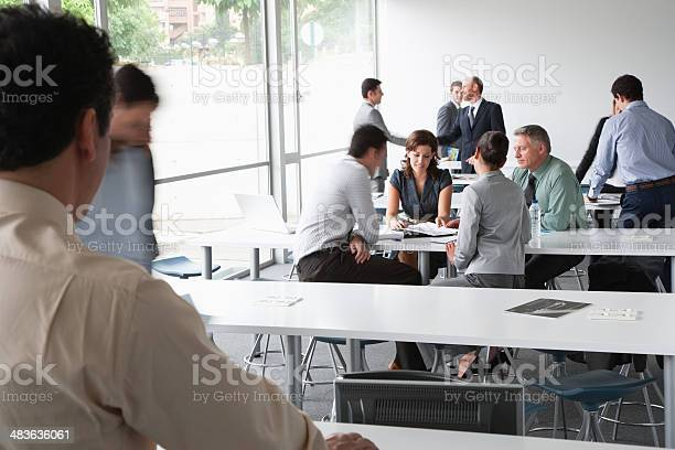 Businesspeople working in corporate training facility picture id483636061?b=1&k=6&m=483636061&s=612x612&h=oae58cxvthy5df 2csq3fz4d94adismffuhw8e109uk=
