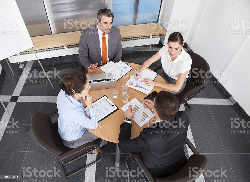 Businesspeople Working In Office royalty-free stock photo