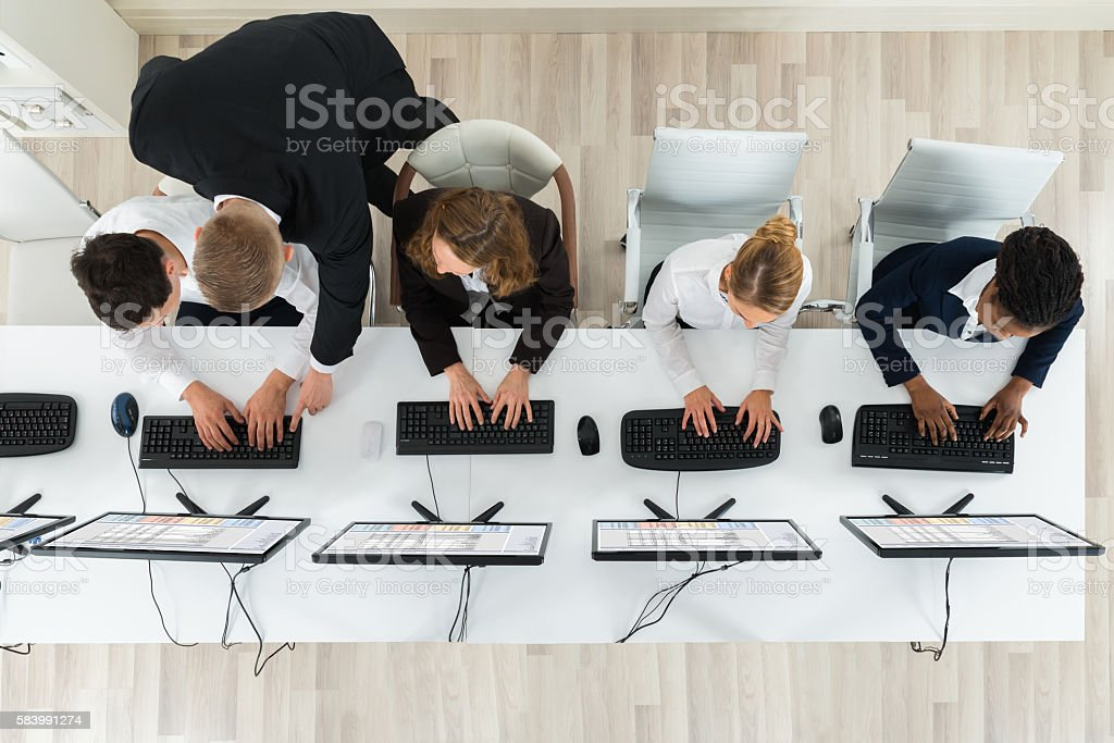 Businesspeople Working In The Office stock photo