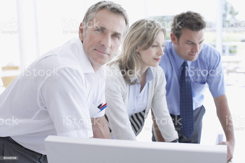 Businesspeople working together royalty-free stock photo
