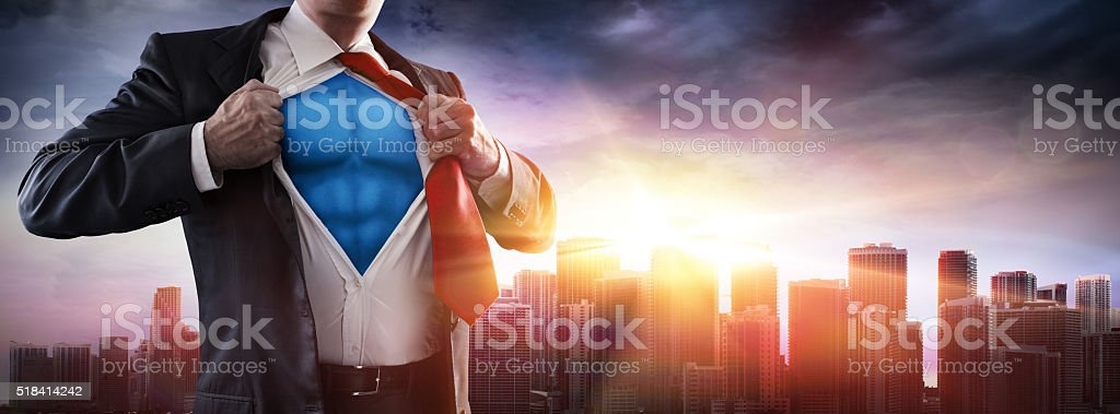 Business's Superhero stock photo