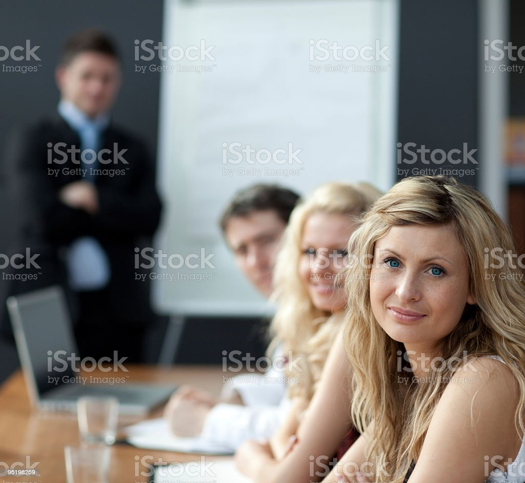 Businessteam in a meeting royalty-free stock photo