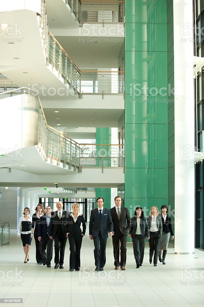 businessteam in motion royalty-free stock photo