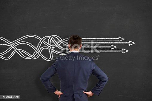 istock BusinessThinking about structuring business process and solutions 528903376