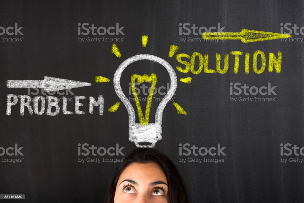 BusinessThinking about structuring business process and solutions royalty-free stock photo