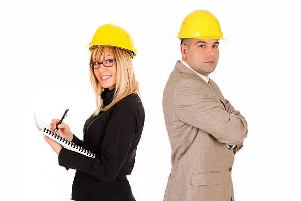 Geschäftsfrau und Architekten – Foto