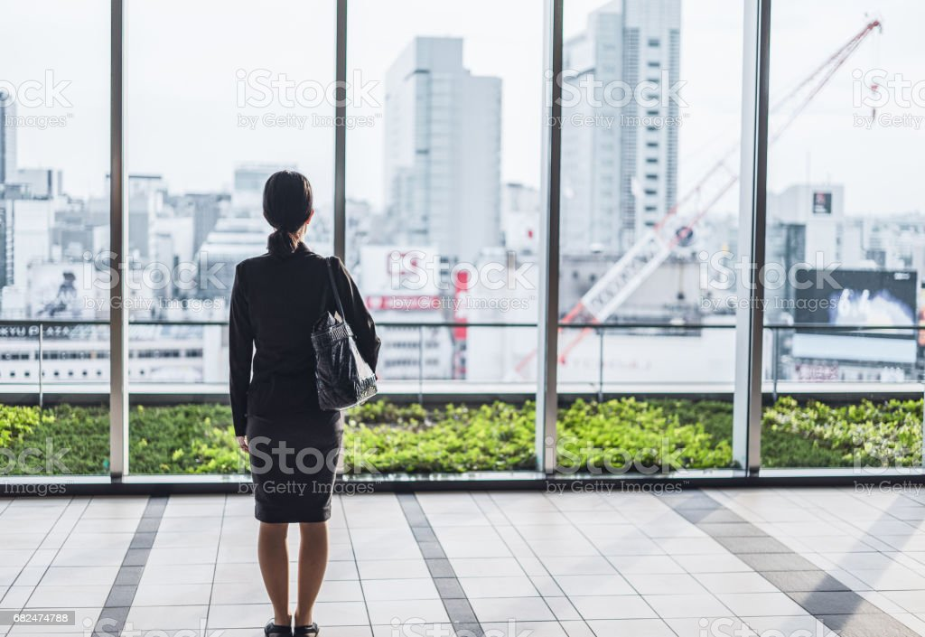 Businesswoman and big city royalty-free stock photo