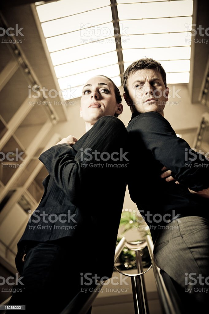 Businesswoman and businessman angry in the office royalty-free stock photo