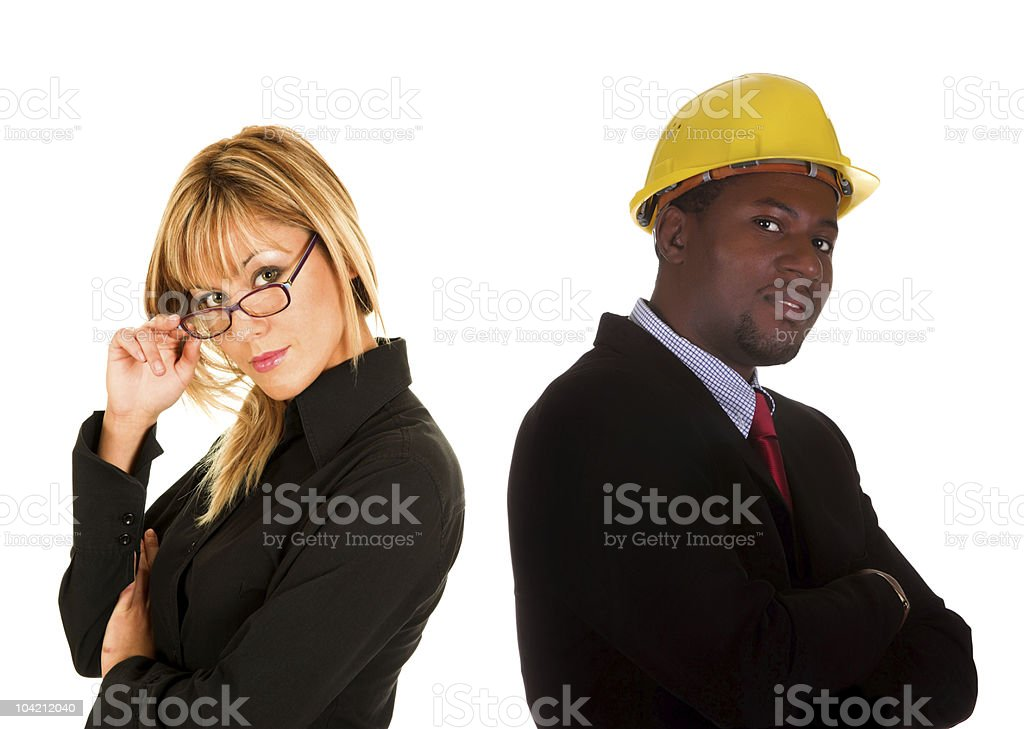 businesswoman and businessman royalty-free stock photo