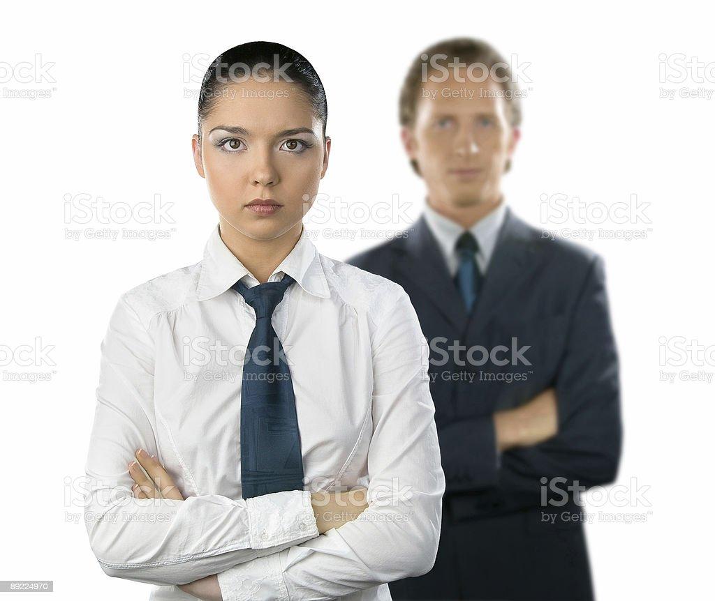 Geschäftsfrau und ein Mann – Foto
