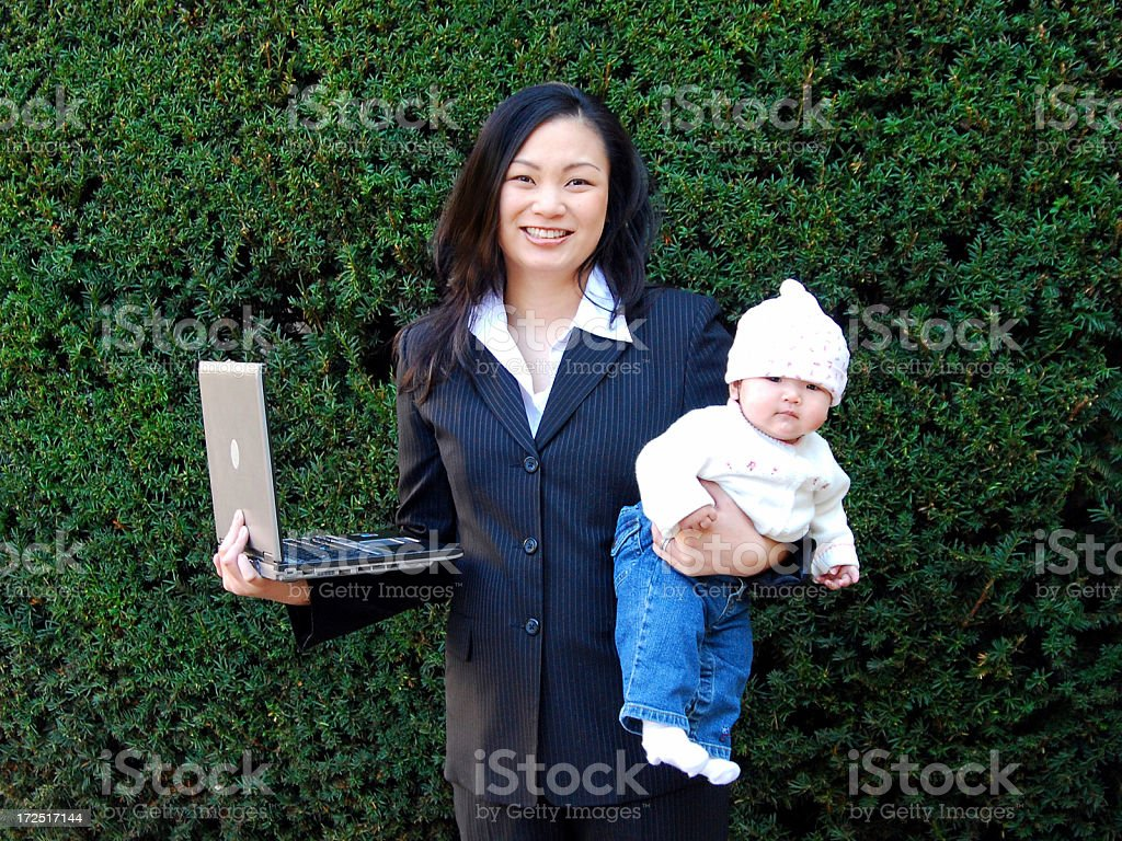 Businesswoman and mother royalty-free stock photo