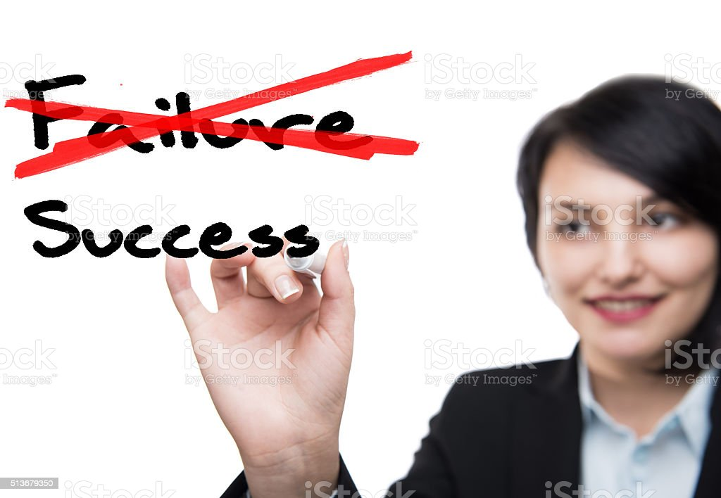 Businesswoman and Success stock photo