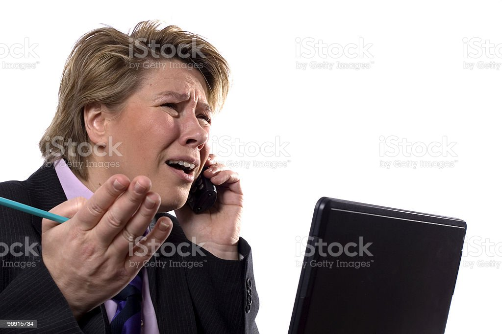Businesswoman arguing royalty-free stock photo